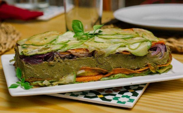 Terrine de lentilha com legumes