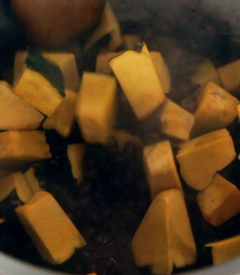Feijão azuki com abóbora