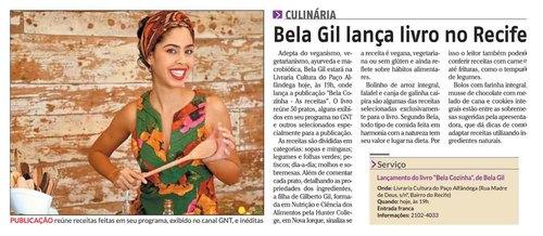 Bela Gil lança livro do Recife