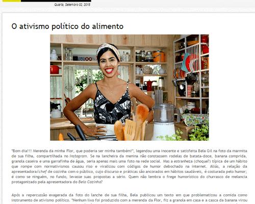 O ativismo político do alimento
