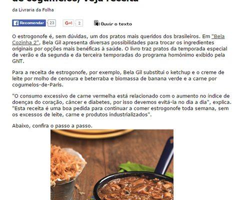 Aprenda com Bela Gil a preparar estrogofone de cogumelos