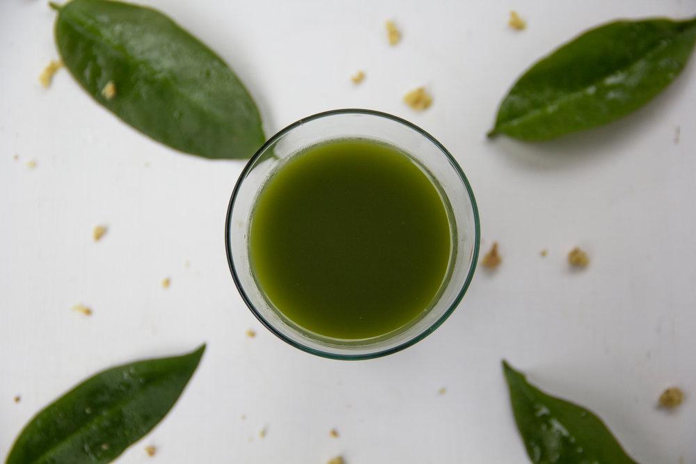 Suco verde com ora-pro-nobis